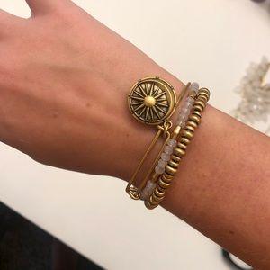 Gold Alex & Ani Bracelets